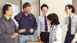 コミュニケーションの取れている建築系の営業・設計・事務スタッフ
